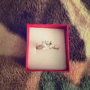 Jewelry - Women's rose gold princess cut 10k engagement ring